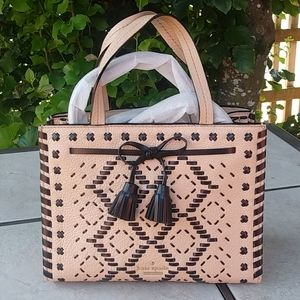Kate Spade | Hayes Street Woven Leather Satchel